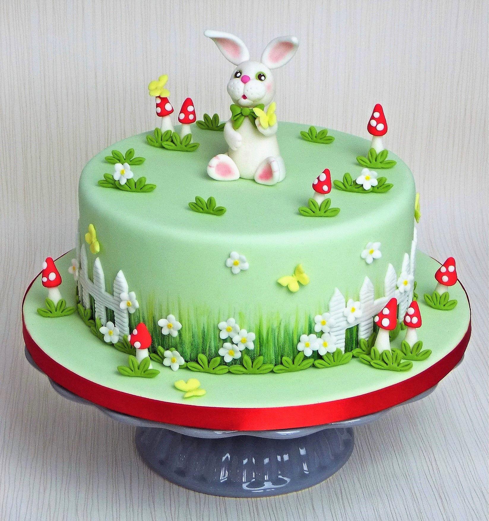 Oster Torte Motivtorte Hase Osterhase Fruhling Cake Spring Modellieren Fondant Motivtorte Tortendeko Tortendekoration
