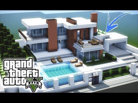 Minecraft tutorial casa moderna 7 parte 1 youtube for Casa moderna in minecraft