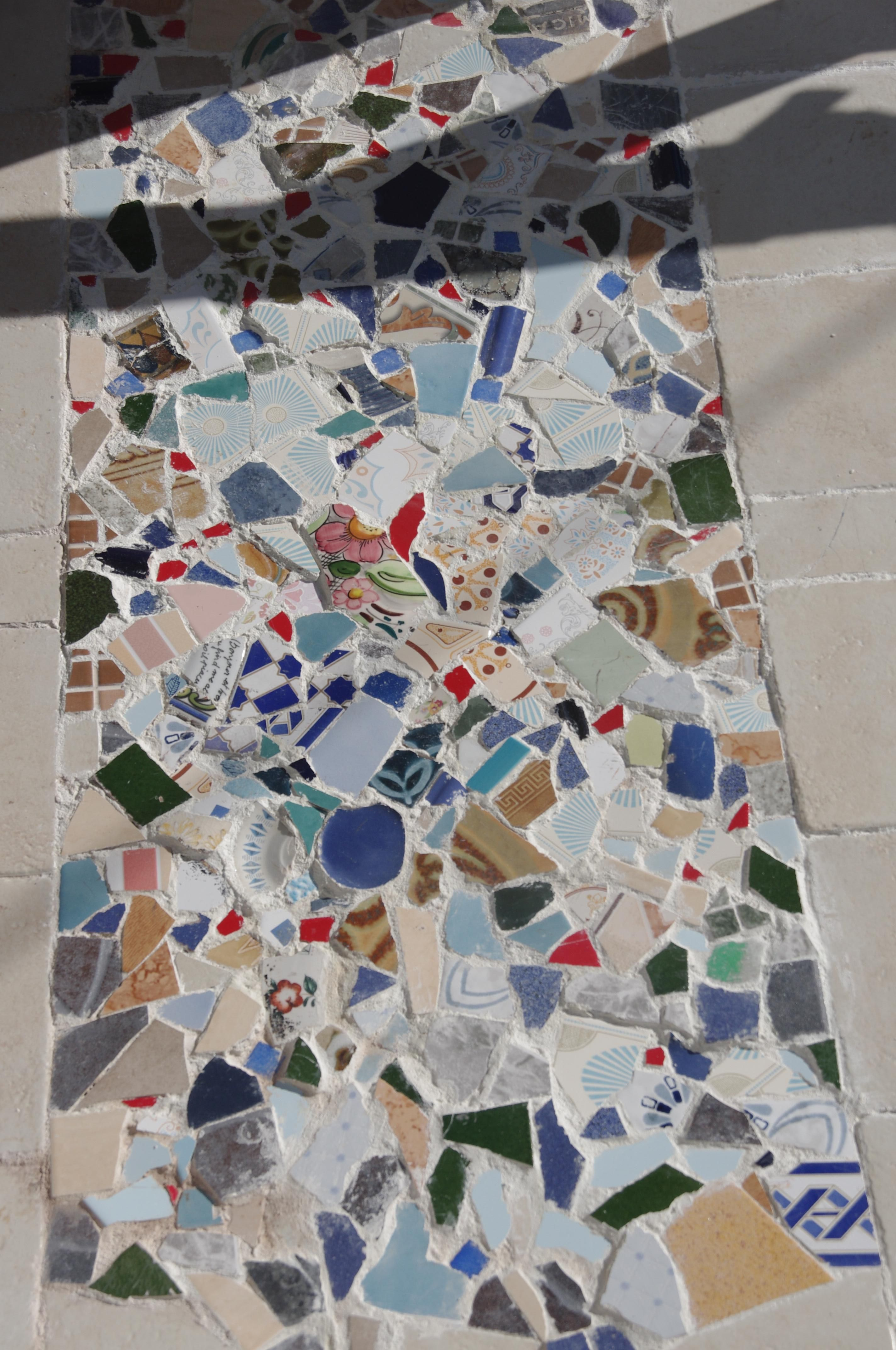 We made this mosaic with broken old tiles  at the home entrance floor we made this mosaic with broken old tiles  at the home entrance  . Entrance Floor Tiles Design Images. Home Design Ideas