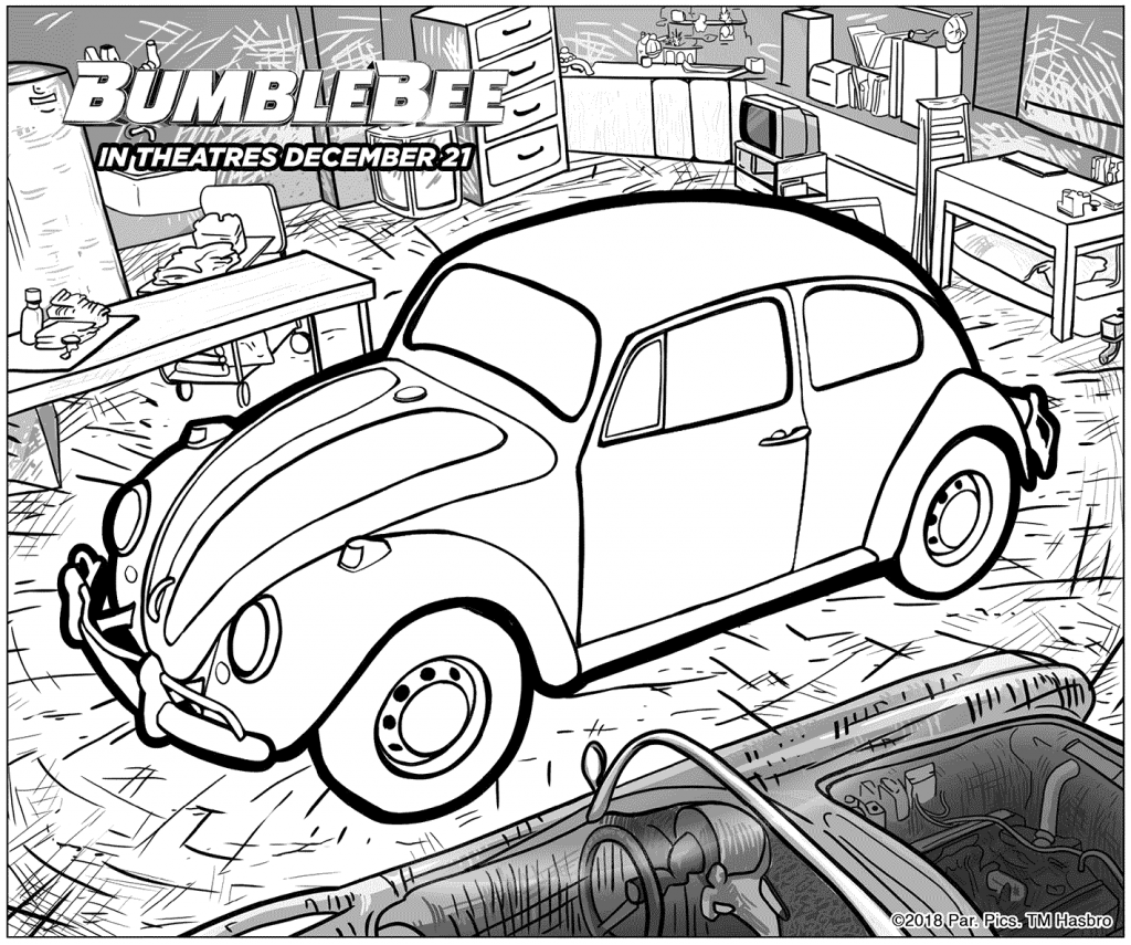 Bumblebee Coloring Pages | Transformers coloring pages ...