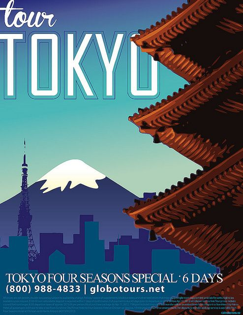 tour tokyo travel poster by bamberos, via Flickr