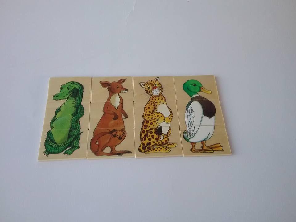 Tessere in legno con soggetto animali #animali #legno #handmade