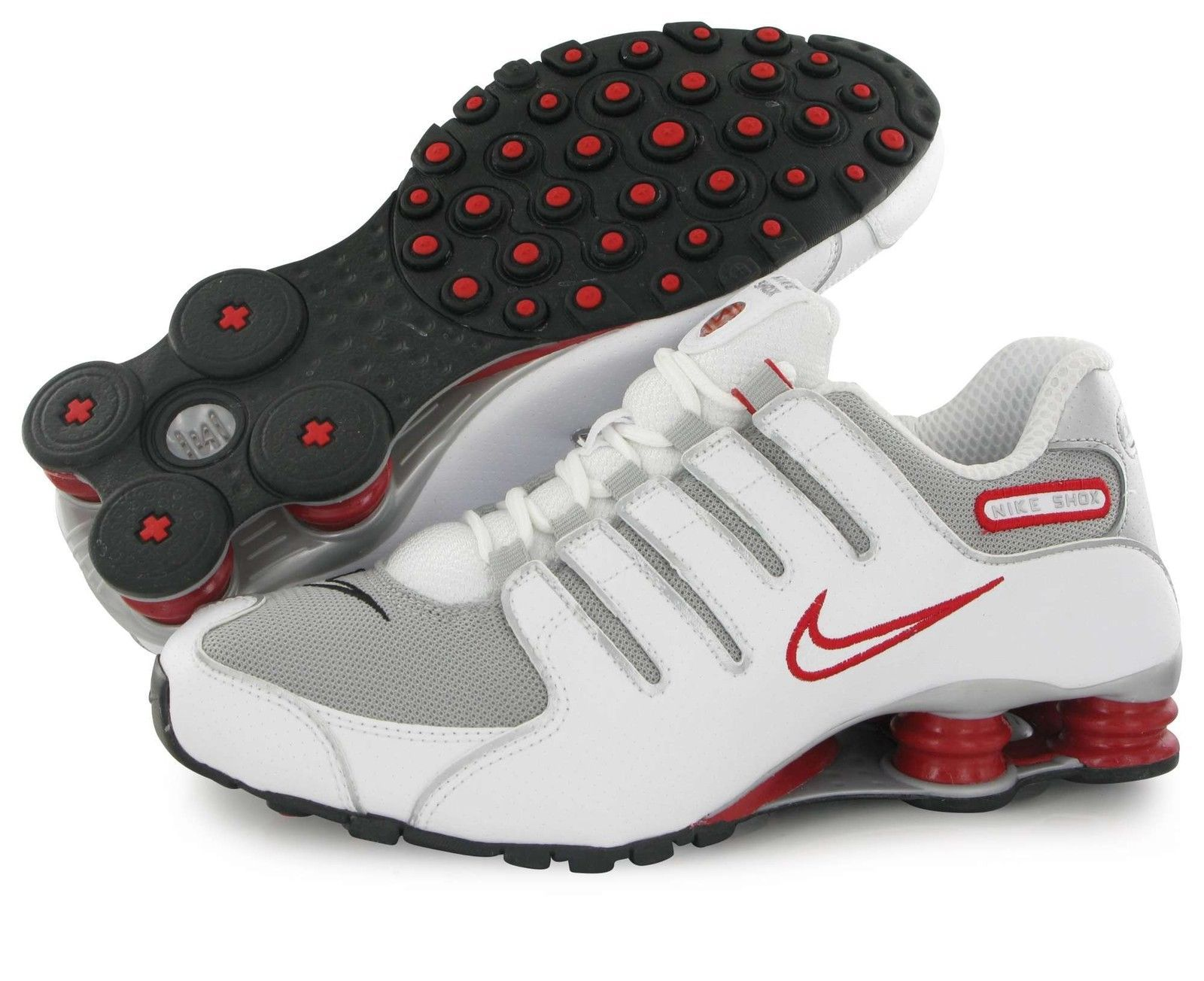 Nike SHOX NZ Training Running Mens White Silver Red 378341-104 Various  Sizes. Find this Pin and more on New York Fashion ... 1fe50c135