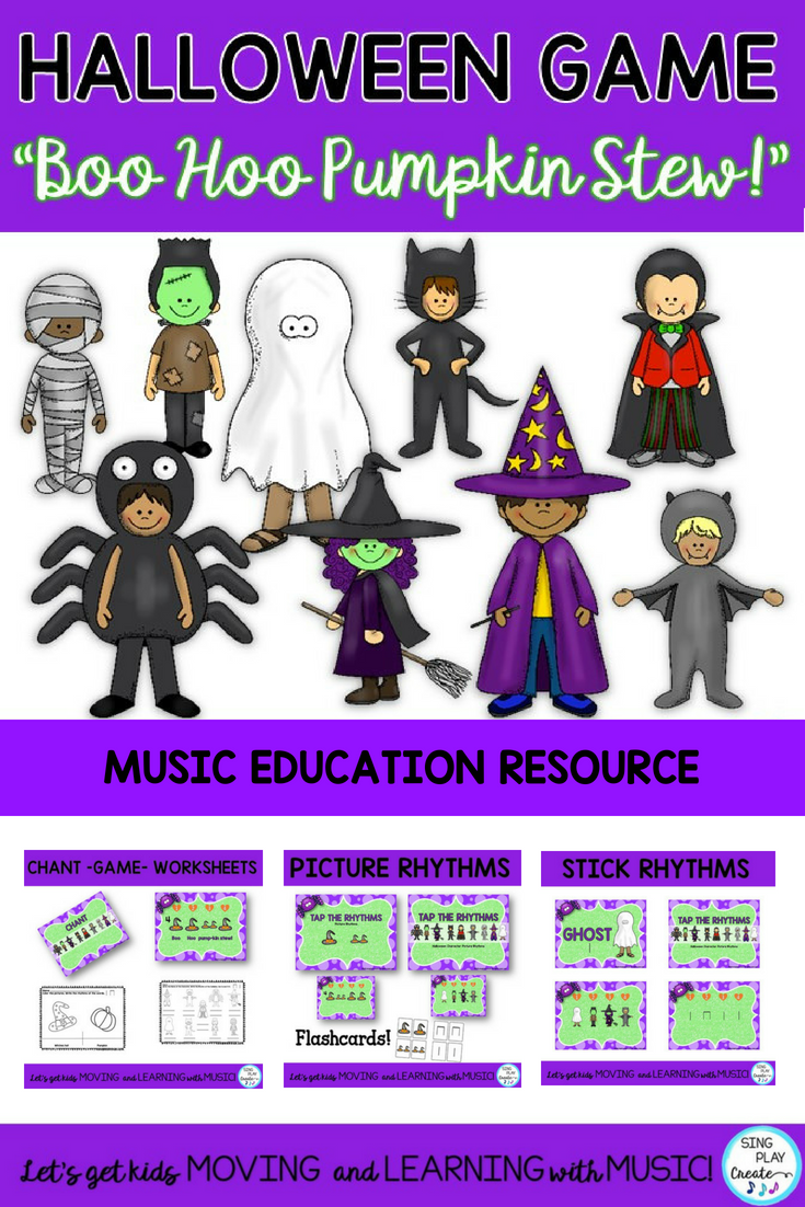"halloween music game and rhythm lesson ""boo hoo, what are you"