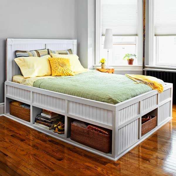 27 Ways To Build Your Own Bedroom Furniture Diy Storage Bed Bed Frame With Storage Diy Platform Bed