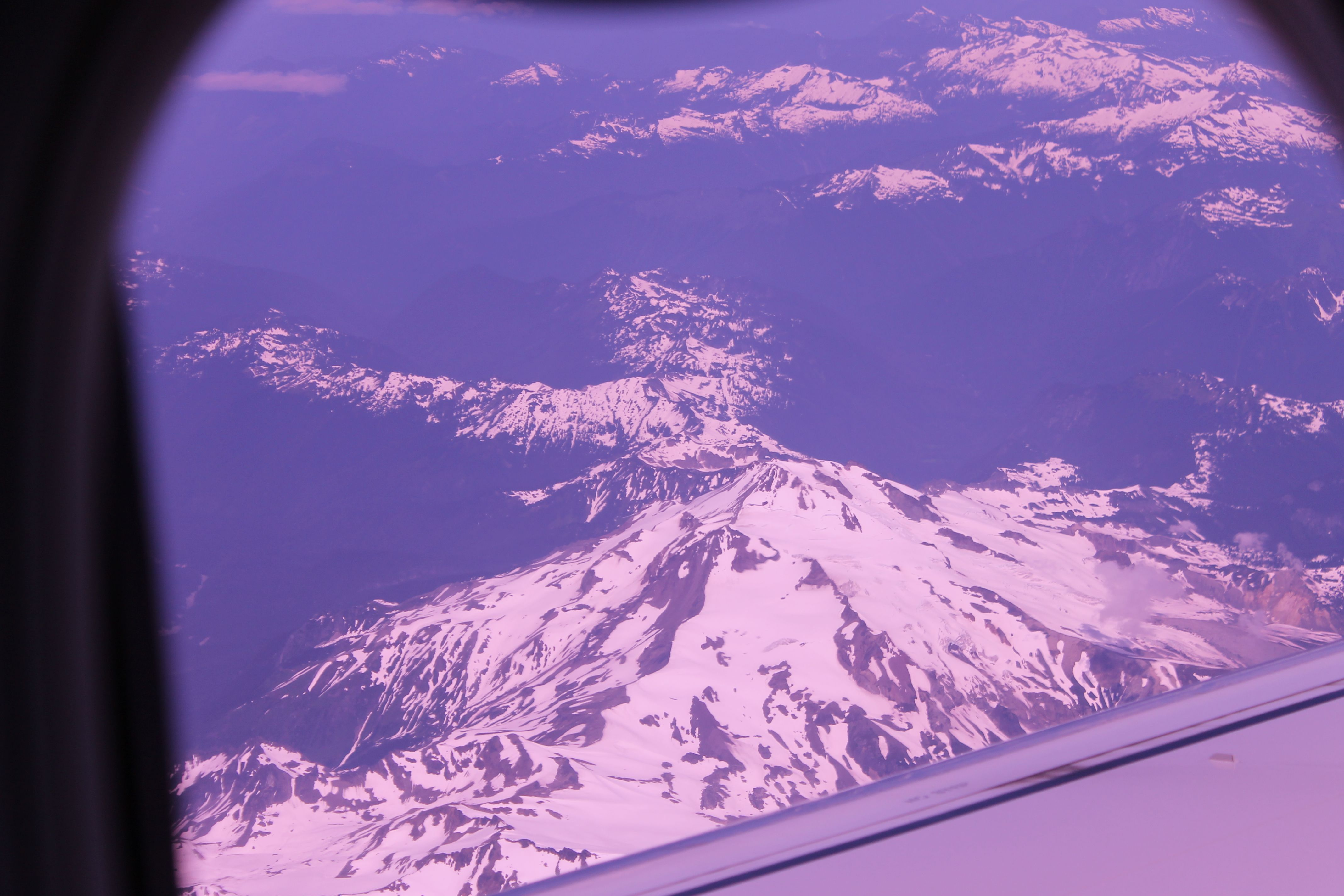 Mt. Rainer from the plane