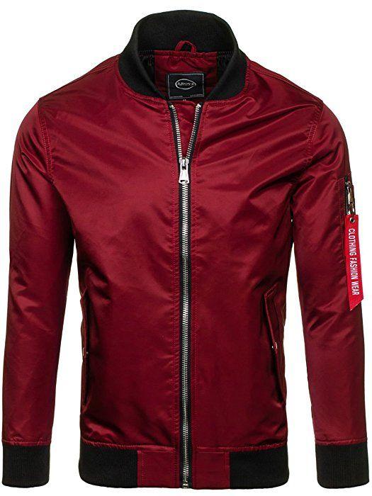 Cooler Street Style in Schwarz und Bordeaux Rot (m0474