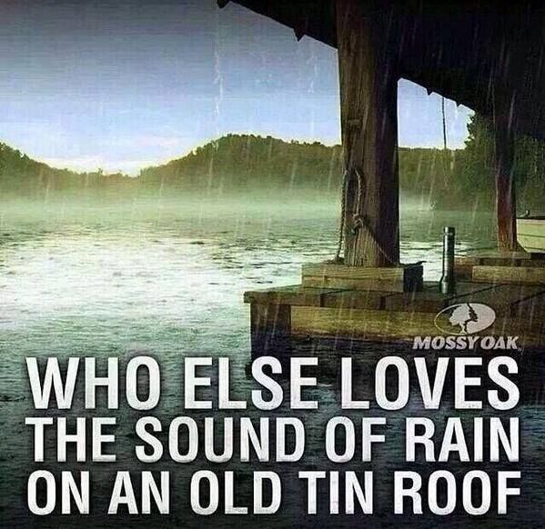 Who Else Loves The Sounds Of Rain On An Old Tin Roof