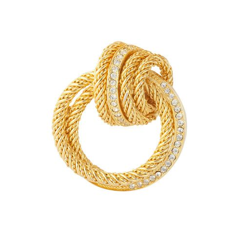 1970s Vintage Christian Dior Knot Brooch Dior jewelry Pinterest