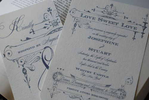 Country Chic Wedding Invitations Vintage French Invitation By Delightedparcels On