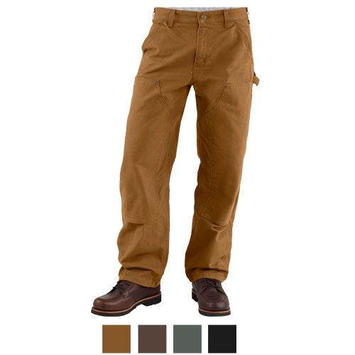 CARHARTT Pantaloni Da Uomo Double Front WORK PANT DARK BROWN