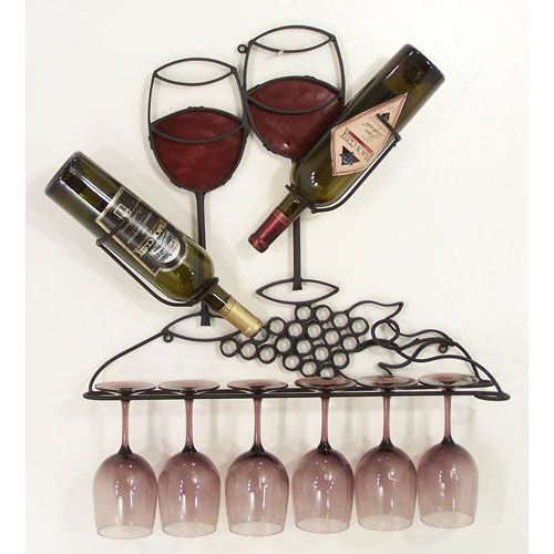 Wall Wine Rack - Wine Glass Rack - Hanging Wine Rack. This would ...