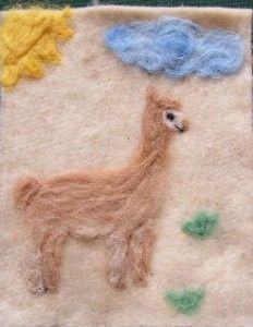 I finished needle felting this picture as I take you through the steps of creating the kits that will be for sale.