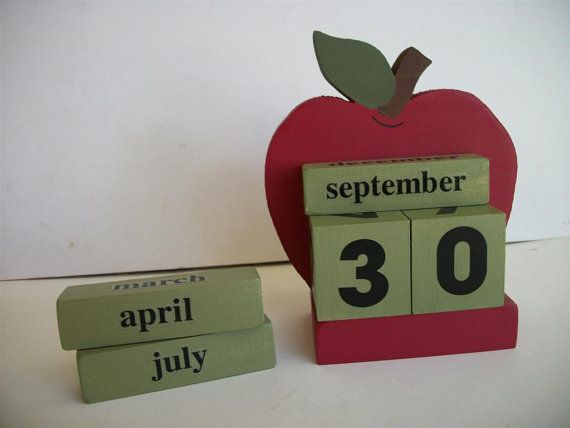 Wedding Date Calendar) (With images) Red apple decor