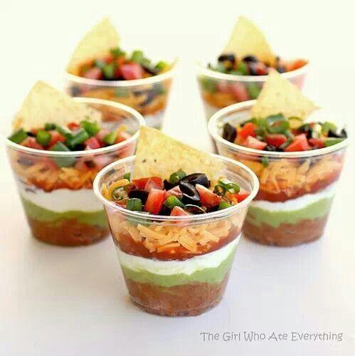 Individual 7 layer dip cups