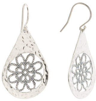 7a7b9d6f9 Made In Israel Sterling Silver Filigree Earrings in 2019 | Products ...