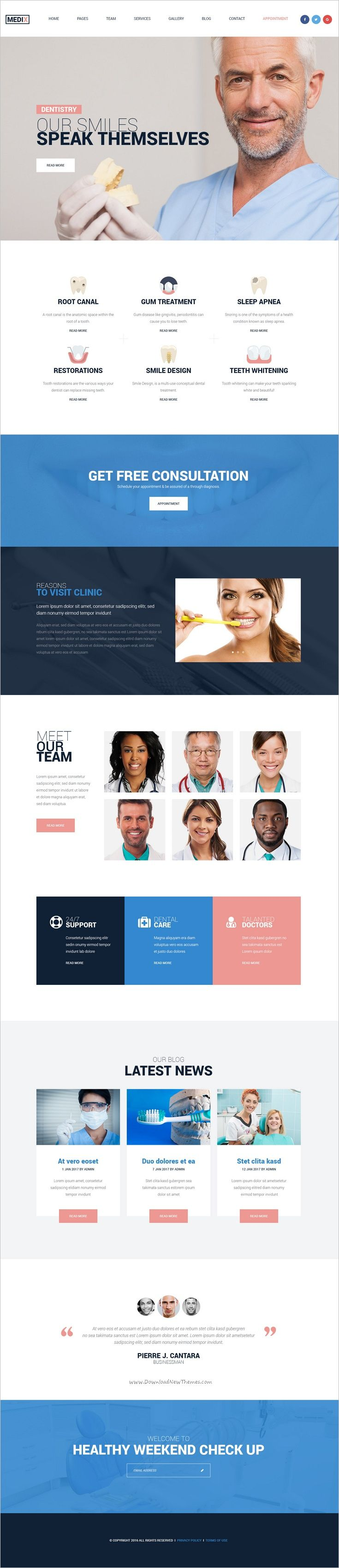 Medix Is An Wonderful Psd Template For Medical Clinic Websites With 7 Homepage Layouts And 27 Psd Pages Download Now Http Clinic Healthcare Centers Medical