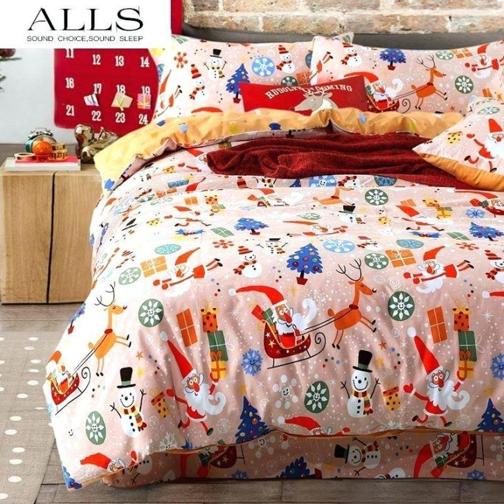 Christmas Duvet Cover Quilt Bedding Set Bed Sheets Queen King