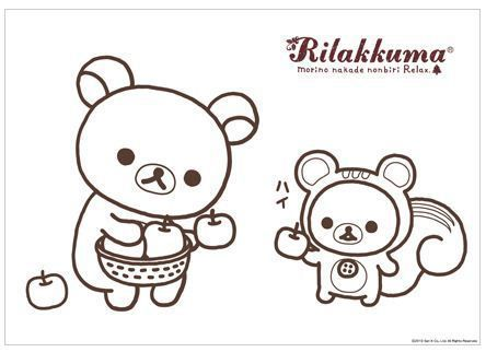 Free printable rilakkuma coloring page sanrio for Rilakkuma coloring pages