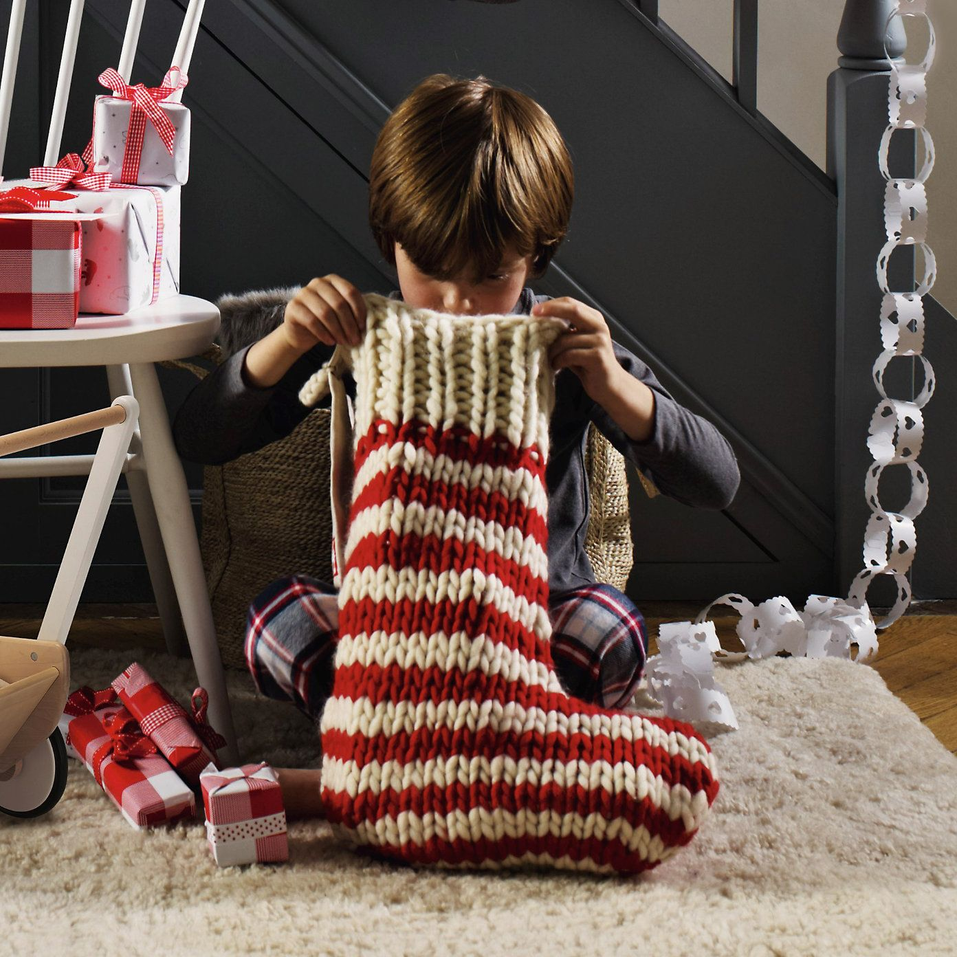 Hand Knit Wool Stocking - Children\'s Christmas | The White Company ...