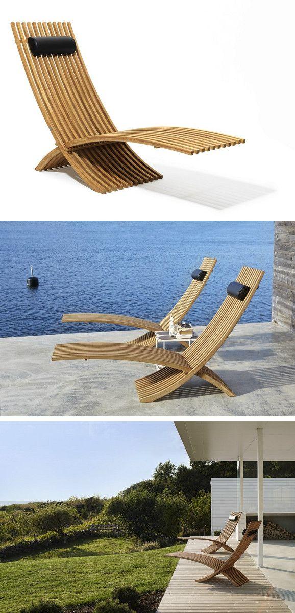 Folding garden daybed NOZIB by Skargaarden #design Nils-Ole Zib
