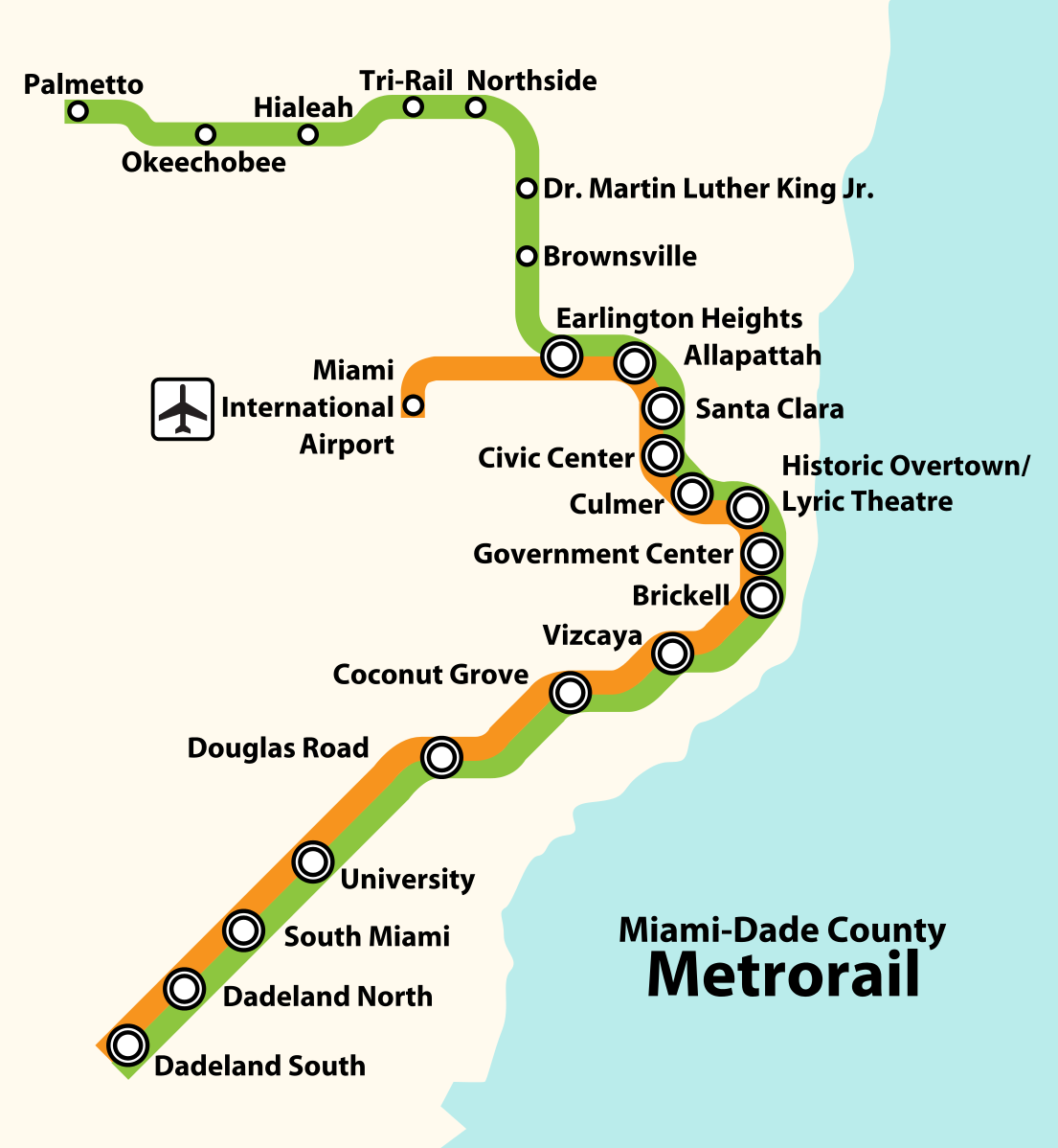 file:metrorail (miami-dade county) system map.svg
