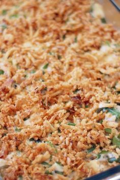 Grandma's Green Bean Casserole Recipe - Easy recipe that's perfect for the holidays!