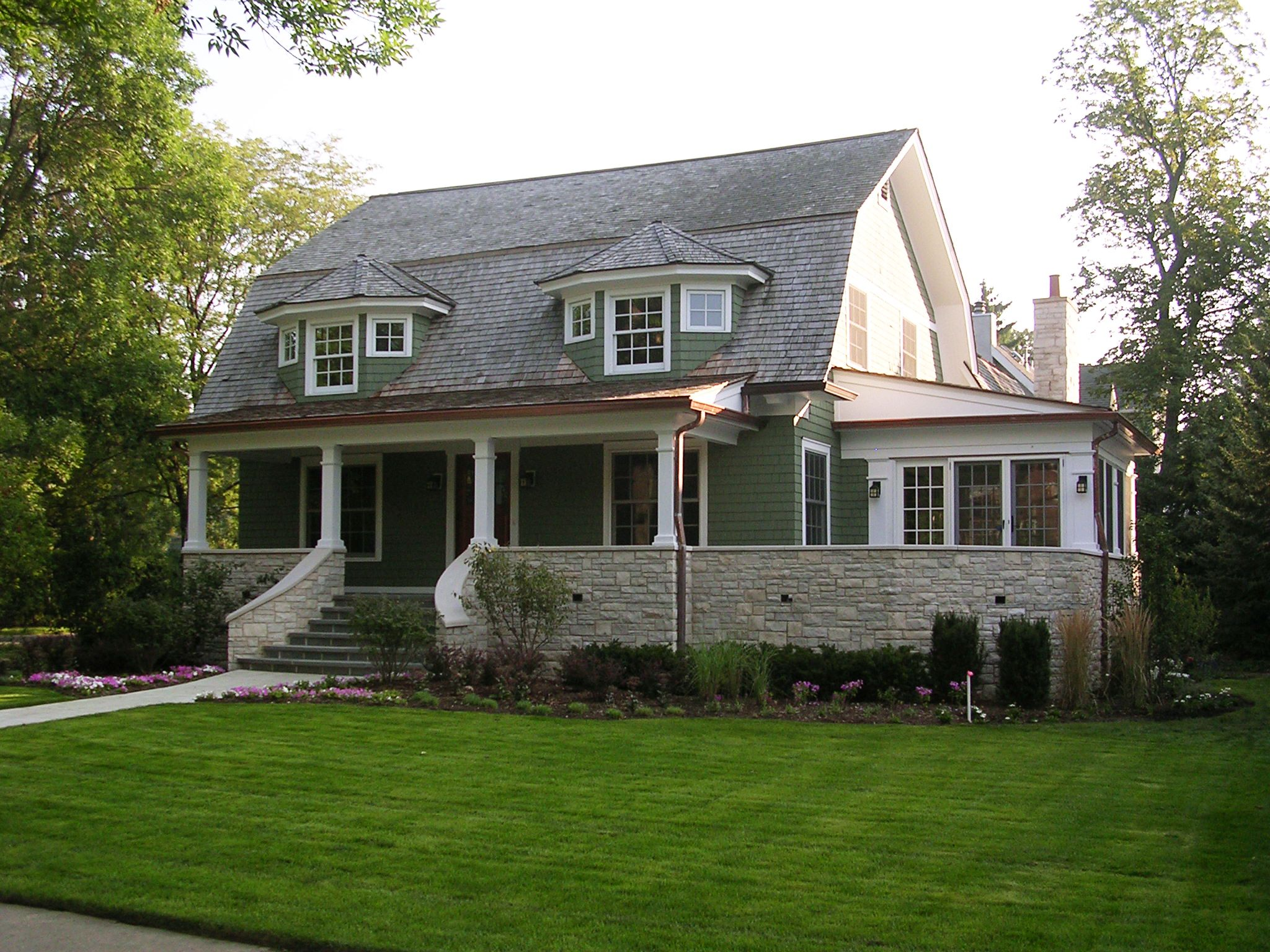 Cook architectural design studio this home was completely for Gambrel home designs