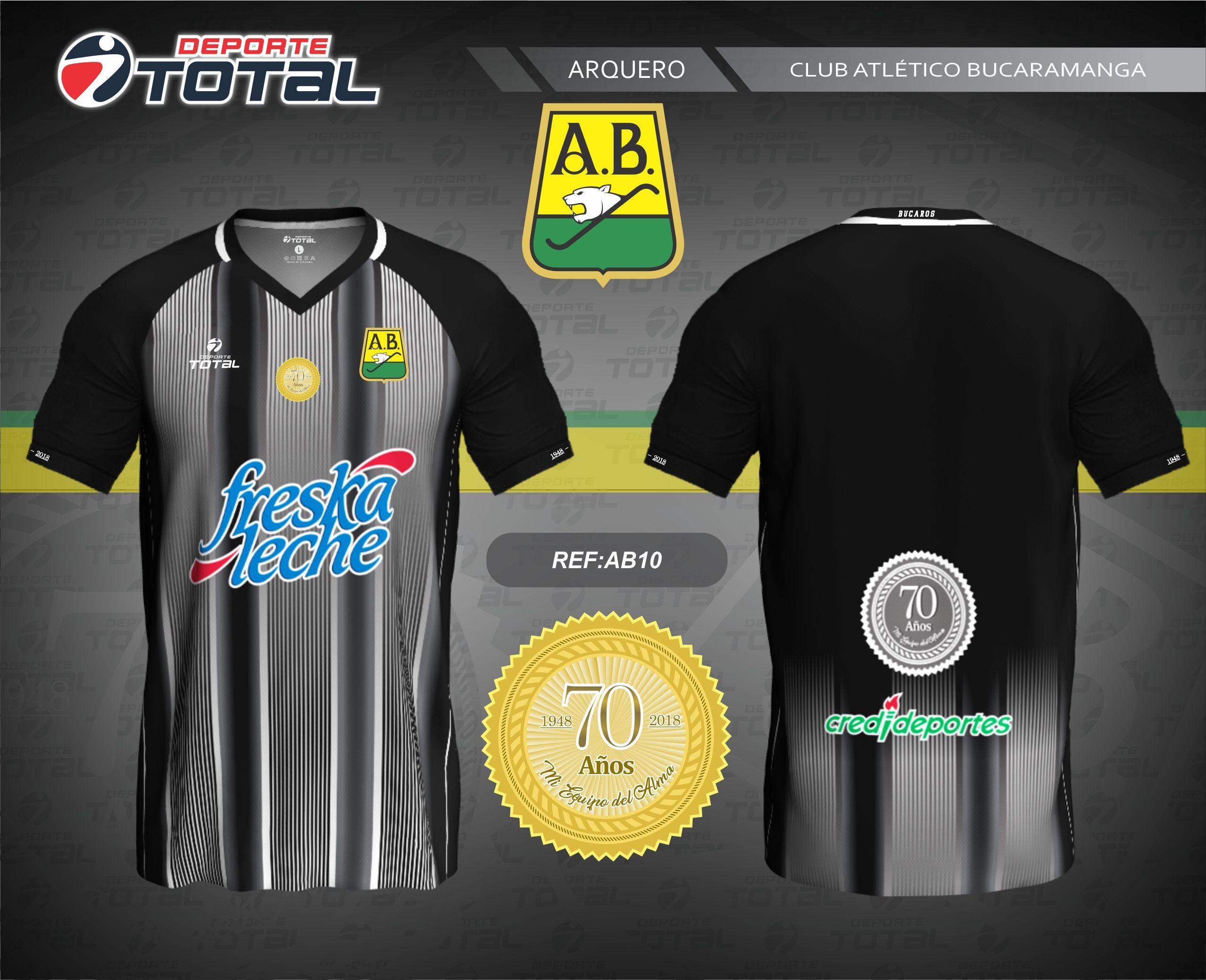 Camiseta de Arquero - deporte total-atletico bucaramanga- 2018-camiseta -uniforme- 85f323cfe5e17