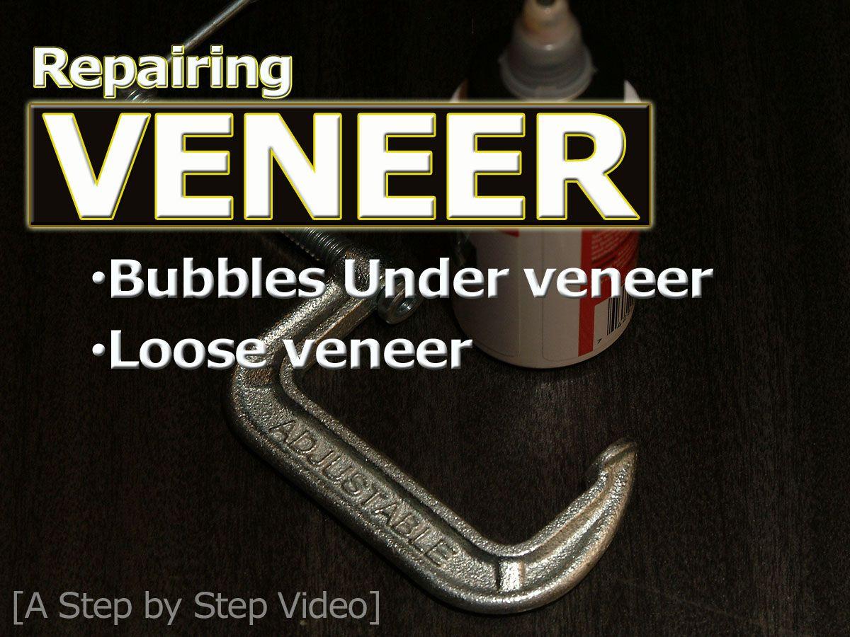 Laminated Wood Veneer, Bubbled or Loose Veneer Home Repair [video]