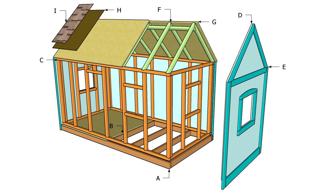 wooden playhouse plans should make it portable so we can take it with us when we move projects for dad pinterest wooden playhouse playhouses and - Playhouse Designs And Ideas