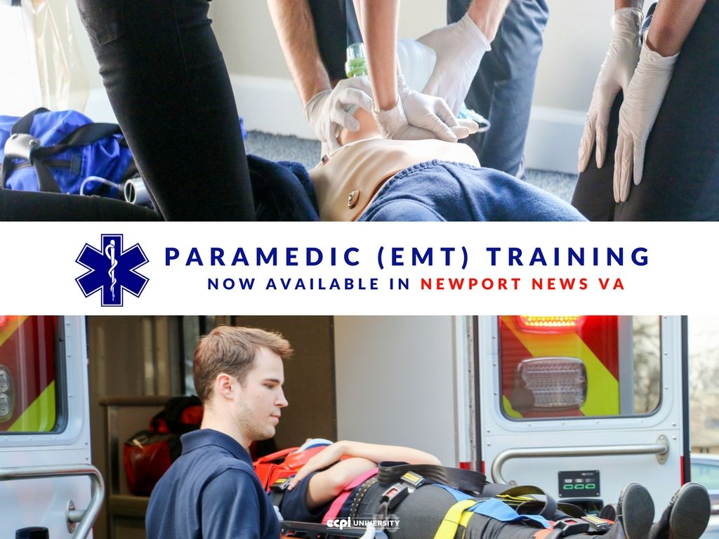 Paramedic emt training now available in newport news