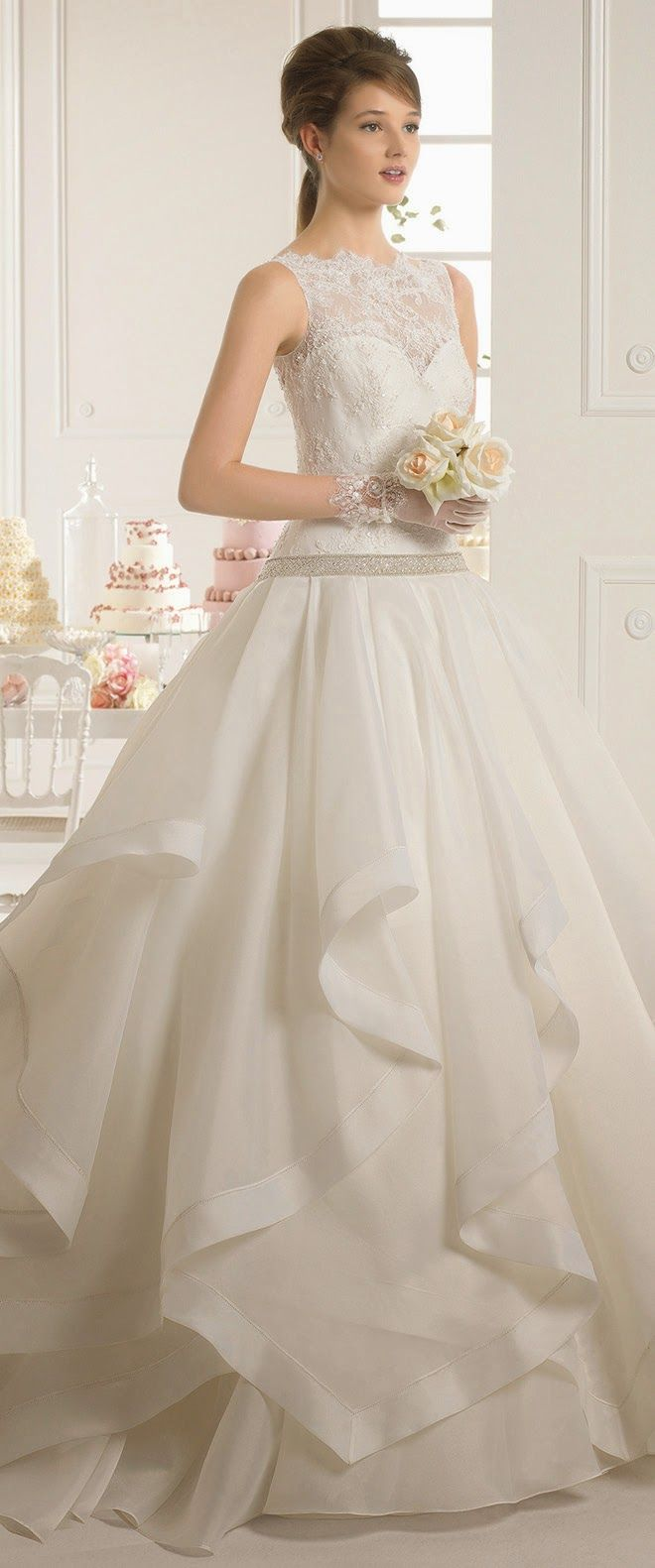 Aire barcelona bridal collection part beautiful romantic