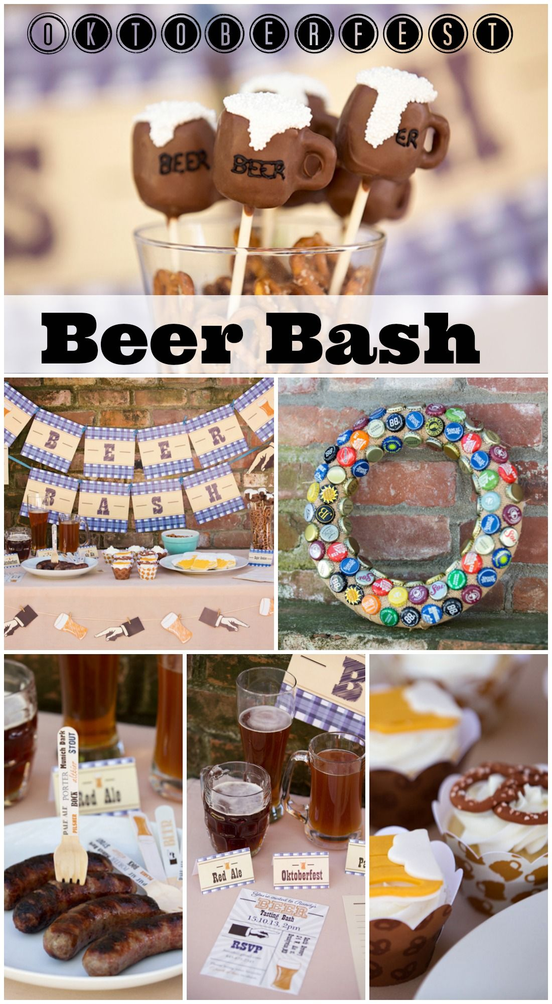 Birthday beer bash oktoberfest beer and beer for 40th birthday party decoration ideas for men