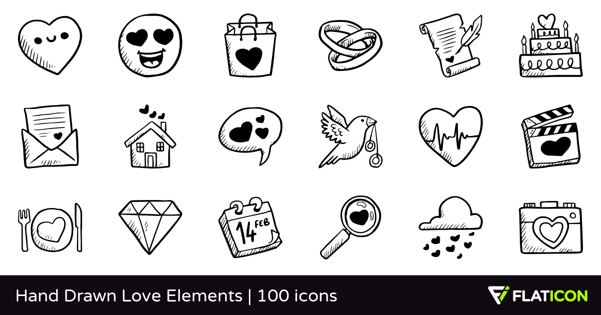 100 free vector icons of Hand Drawn Love Elements designed by Freepik