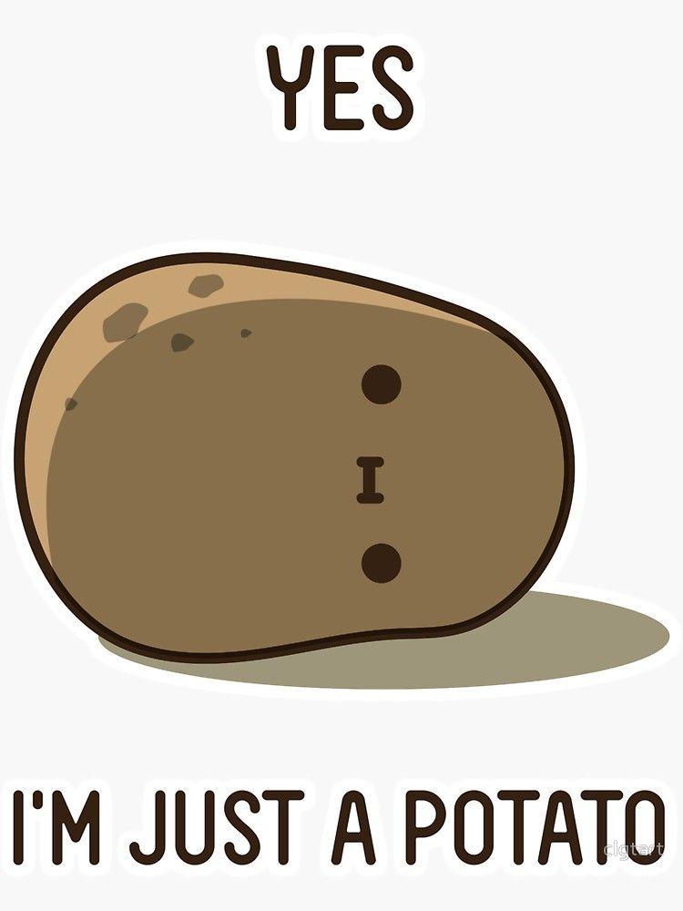 Cute Potato Sticker By Clgtart In 2021 Cute Potato Kawaii Potato Cute Cartoon Images