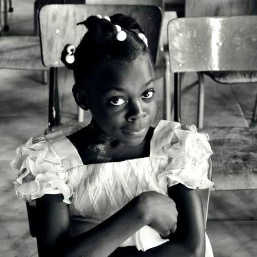 "Saatchi Art Artist frank verreyken; Photography, ""Portrait of a Haitian girl - Limited Edition 1 of 6"" #art"