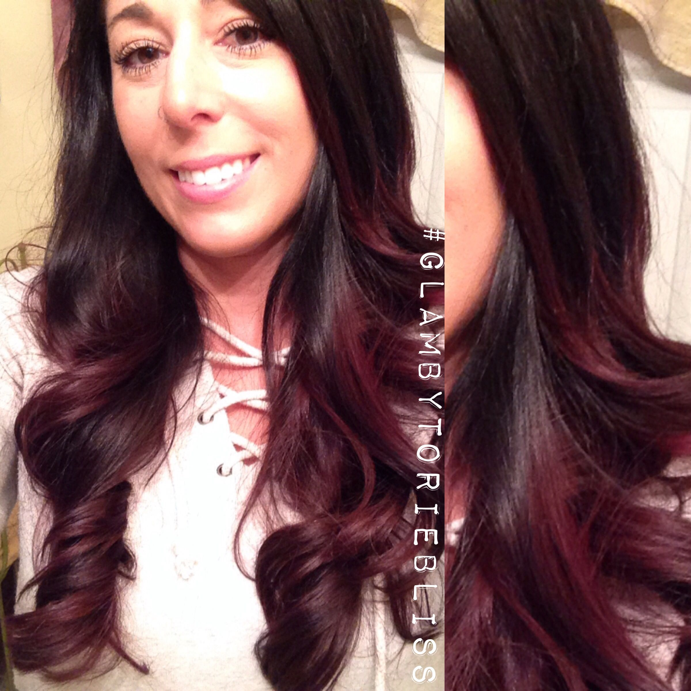 How to dye black hair blue, crazy color capri blue ombre ...