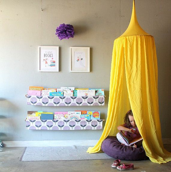 Play Canopy - Lemon Yellow - Hanging Play Tent : hanging tent canopy - memphite.com