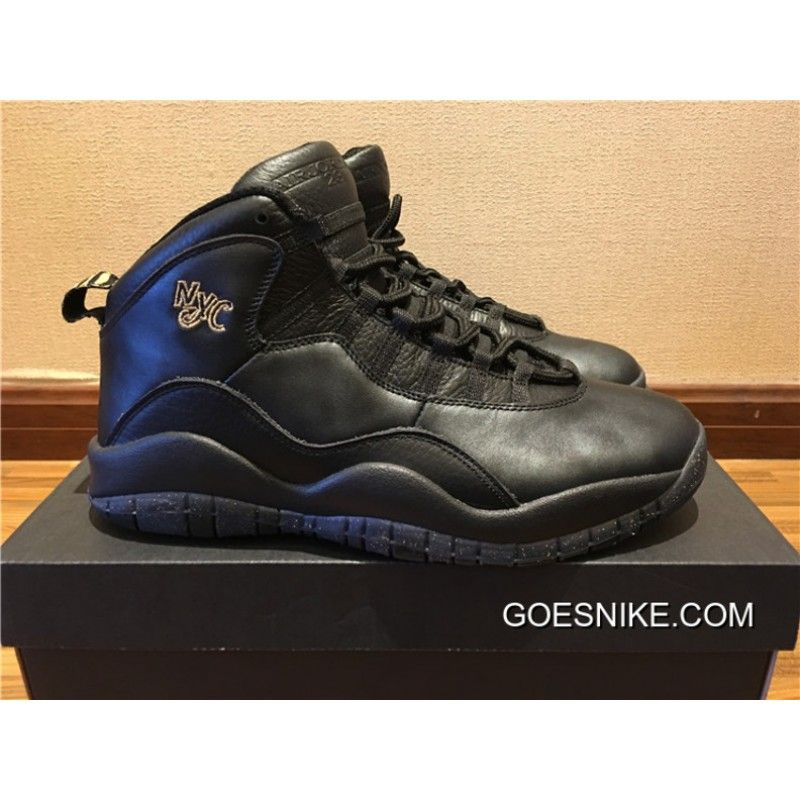 77831ab33f95b1 Air Jordan 10 NYC Black Black-Dark Grey-Metallic Gold Coin New Year Deals