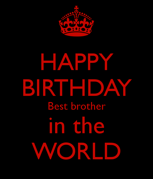 happy birthday best brother in the world poster