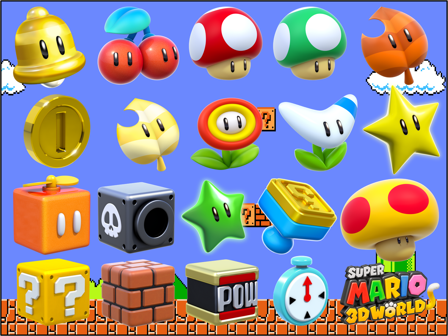 Super Mario 3D World - Power-Ups | Super mario 3d, Mario
