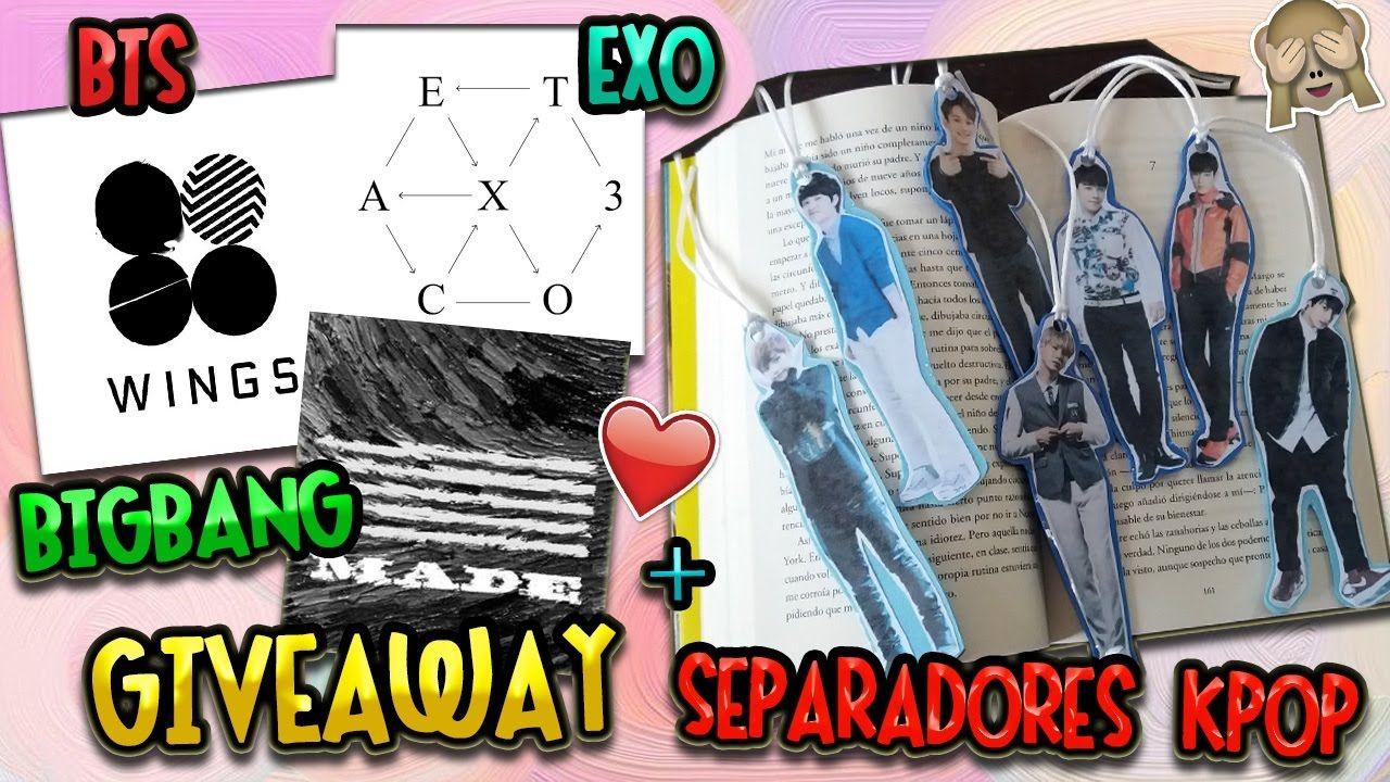 Diy Separadores Kpop Bts Exo Bigbang Giveaway School Supplies