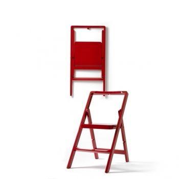 Step Mini stepladder, red, by Design House Stockholm.