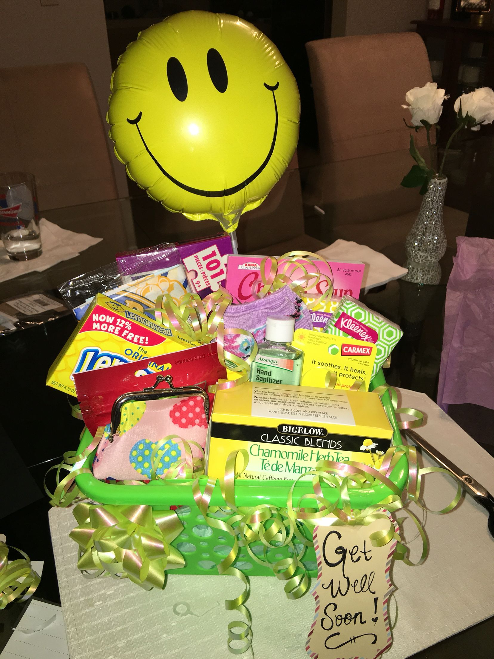 Get Well Soon Gift Basket All From Dollar Store And It Was Less Than 20