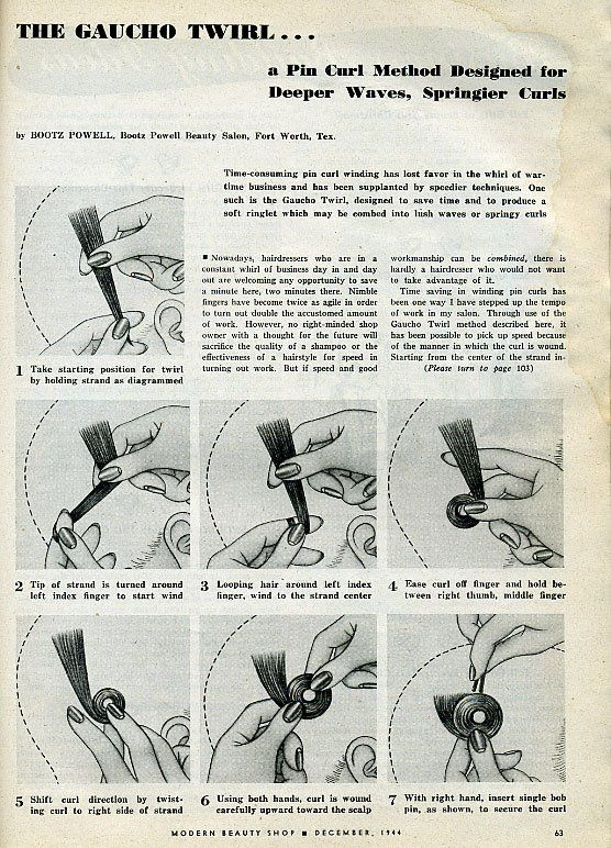 Vintage Magazine Guide To The Perfect Pincurls If You Want To Do A
