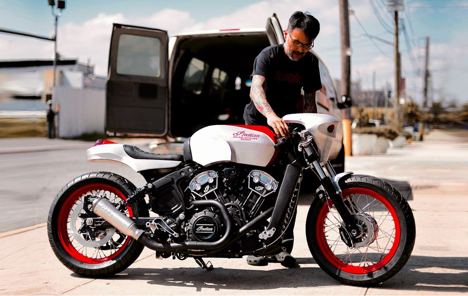 indian scout bobber von keino cycles