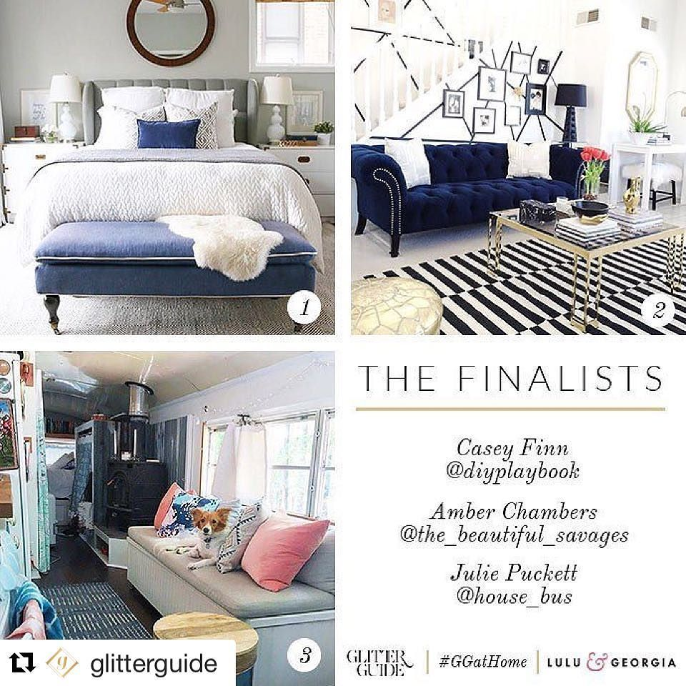 We're a finalist! Click the link in our bio to vote! #Repost @glitterguide (via @repostapp)  Yay! We've picked the top 3 finalists for our #GGatHome contest with our partner @luluandgeorgia! After looking through more than 1500 images we've selected the homes of Casey Finn of @diyplaybook Amber Chambers of @the_beautiful_savages & Julie Puckett of @house_bus!  Now it's your turn to pick! Head to glitterguide.com today and vote for the home tour you want to see on Glitter Guide. We have an…