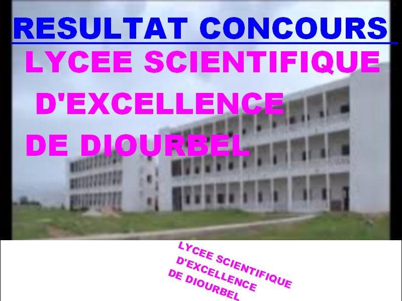 Concours D Entree Au Lycee Scientifique D Excellence De Diourbel Session De 2017 Liste Par Ordre De Merite Des Candidats Declares A Lycee Concours Scientifique