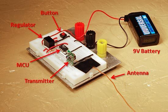 Wireless Garage Door Opener Operated From A Remote Control